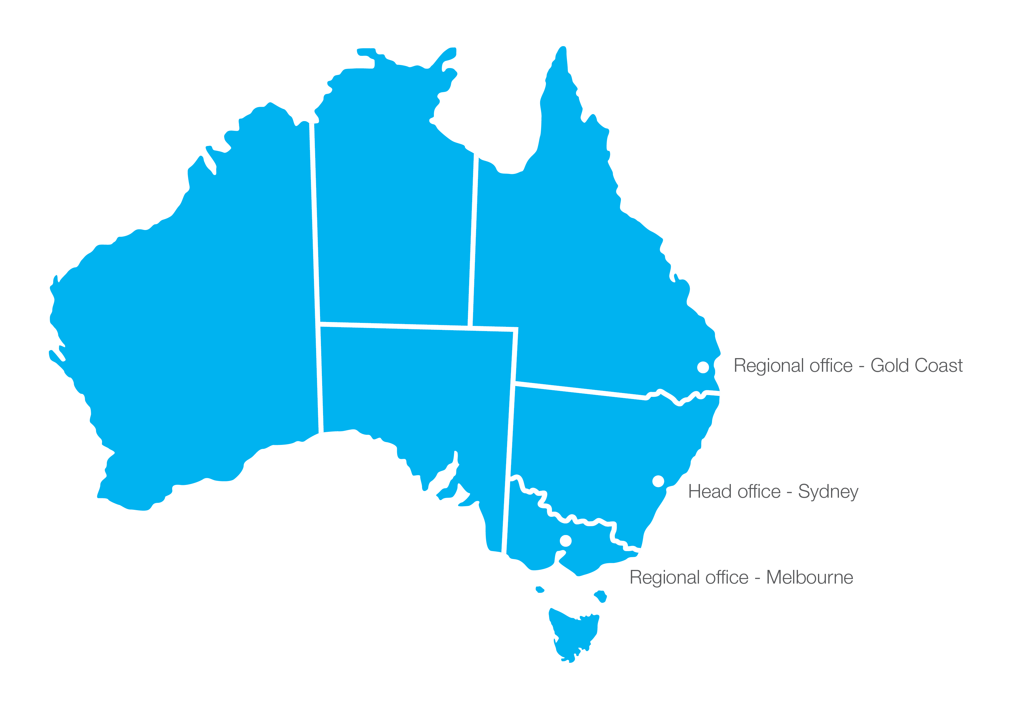 National reach local presence graphic